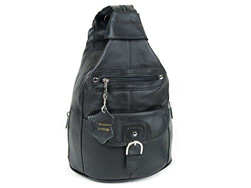 d994edc8e3db Women Genuine Leather Sling Purse Handbag Shoulder Bag Backpack Slouch  Organizer with Free Wayfarer REVO Sunglasses - Buy Online in Oman.