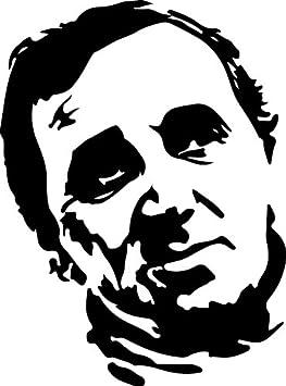 rechercher l'original rétro en stock Sticker Charles Aznavour - 57x77 cm: Amazon.fr: Cuisine & Maison