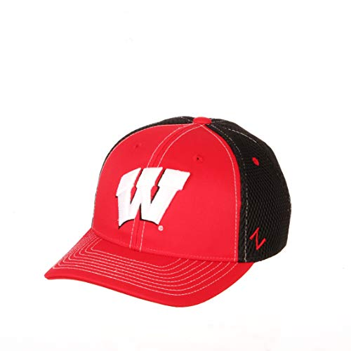 Zephyr NCAA Wisconsin Badgers Boys Chutechute Hat, Team Color, Youth Adjustable