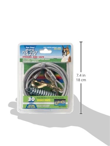 Four Paws Tie-Out Cable for Large Dogs, 30 ft
