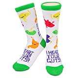 Apparel : I Heart Your Guts Funky Socks - I Heart Guts / Neon Eaters - Cute, Unique, Crazy, Fun Gift Socks