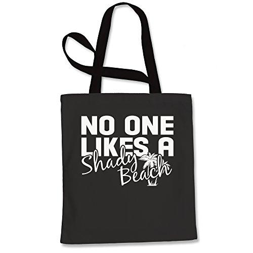 Tote Bag No One Likes A Shady Beach Black Shopping (Poly Tote Tank)