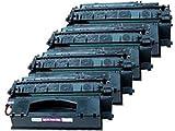 4-Pack Compatible HP 53X (Q7553X) Hi-Yield Toner Cartridge for use with HP LaserJet M2727nf MFP P2014 P2015 P2015d P2015dn P2015n P2015x Printer, Office Central