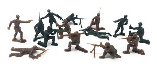 Sea View Treasures 300 Piece Bulk Plastic Soldier Assortment (Green and Tan) - Plastic Army Men, Marines, or Navy Seals