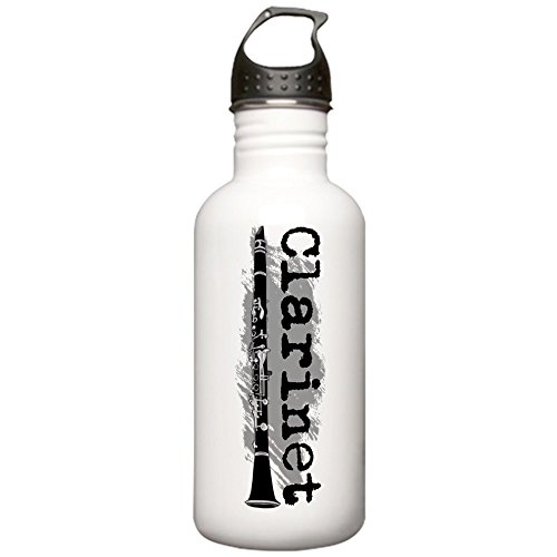 CafePress - Clarinet Vertical Stainless Water Bottle 1.0L - Stainless Steel Water Bottle, 1.0L Sports - Band T-shirt Gift Personalized