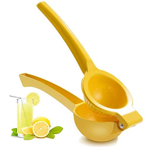 ZEYUAN Manual Juicer Citrus Lemon Squeezer,Fruit Juicer Lime Press Metal,Professional Hand Juicer Kitchen Tool(yellow)