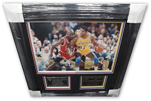 Michael Jordan Magic Johnson Autographed 16X20 photo Vintage from '91/1991 UDA
