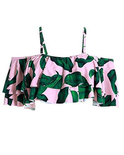 Tempt Me Women Flounce Swimsuit Off Shoulder Ruffled Chic Bikini Crop Tops