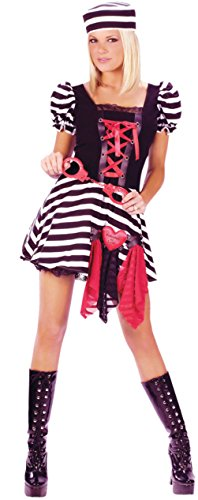 Prisoner Of Love Halloween Costume (Funworld Womens Sexy Prisoner Of Love Adults Theme Party Fancy Halloween Costume, S/M (2-8))