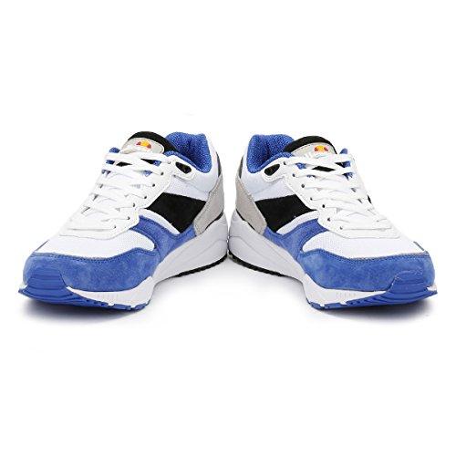 Ellesse Hommes Blanc/Royal/Gris LS360 Suède Basket