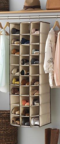 Amazon.com: Whitmor Hanging Shoe Shelves   30 Section   Closet Organizer    Canvas: Home U0026 Kitchen