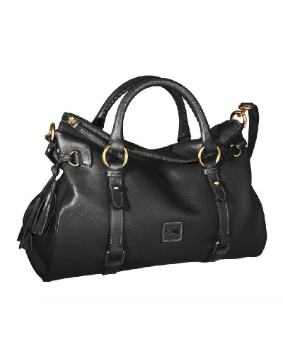 (Dooney & Bourke Florentine Vachetta Satchel, Black Trim)