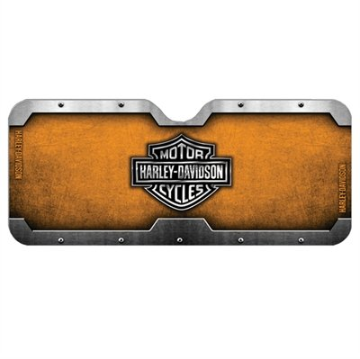Harley Davidson Motorcycle Shield Hd Auto Protective Sun Shade Interior Accordion Sunshade (Harley Sun Shade)