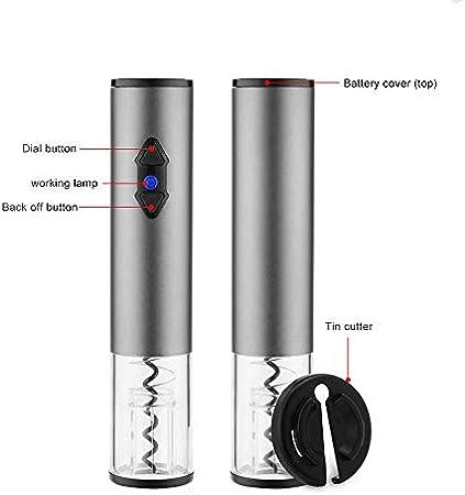 Heerda Sacacorchos eléctrico, abrebotellas automático, ideal para botellas de goma / corcho de plástico / botellas de gran formato.