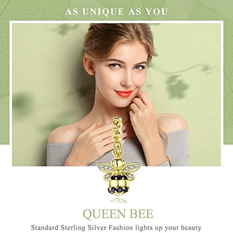 Abalorio de abeja reina de oro de 925 de plata de ley 925 para pulseras y collares de bricolaje: Amazon.es: Joyería