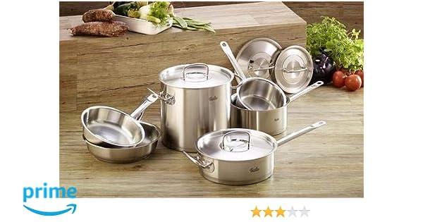 10-Pcs Stainless Steel Kitchen Utensils Saute Frying Pan Stock Pot  Cookware Set