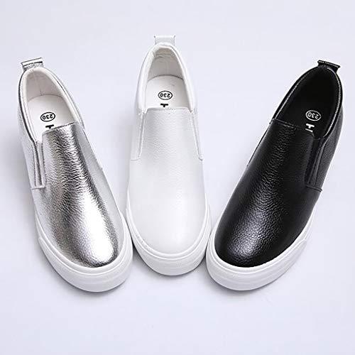 Semelles À Femmes Taille Épaisses Chaussures Et Nombre Pour Version Dans Blanches Étudiante Ewet A Coréenne Des La Augmentation couleur De Du B 35 xwYIZq6