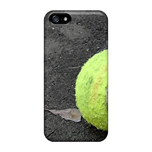 Iphone 5/5s Hard Back With Bumper Silicone Gel Tpu Case Cover Tennis Ball by icecream design
