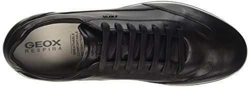 Geox Men's U Clemet a Sneaker, Cognac Black (Blackc9999)