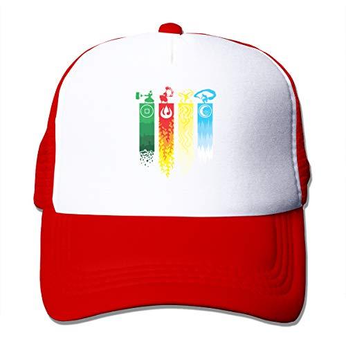 Kooiico Avatar The Last Legend Airbender of Korra Aang Outdoor Mesh Hat Hiphop Cap Hat Adjustable Red
