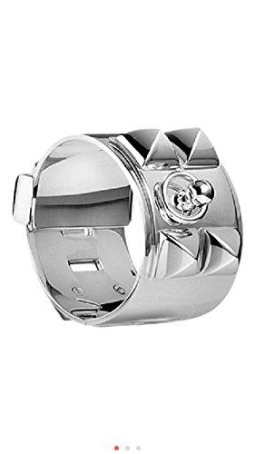 hermes-sterling-silver-collier-de-chein-cdc-cuff-bracelet-size-l