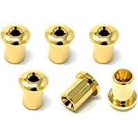 Vintage Forge Gold Top Mount Loading String-Thru Body Ferrules for Electric Guitar (Set of 6) SF140-GLD