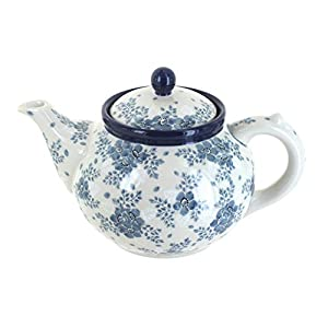 Blue Rose Polish Pottery Blue Fleur Medium Teapot