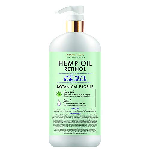 41UY0JJJijL - Hemp Body Lotion Retinol Anti-Aging 32oz / 960ml by Pharm to Table