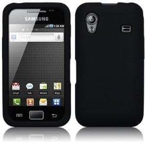 Funda de silicona color negro + 6 protectores de pantalla para Samsung S5830 Galaxy Ace