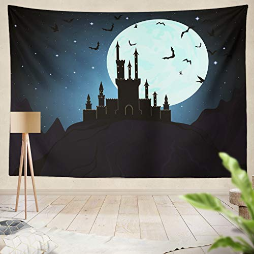 YGUII Tapestry Halloween Dracula Castle Hanging Tapestries 150150cm(60