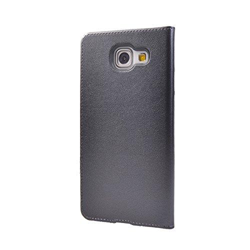 Galaxy A5 (2016) 5.2 Funda,COOLKE Ultra Delgado Diseño de ventana Flip Funda Con Soporte Plegable Carcasa Funda Tapa Case Cover para Samsung Galaxy A5 (2016) 5.2 - Rose Oro Gris