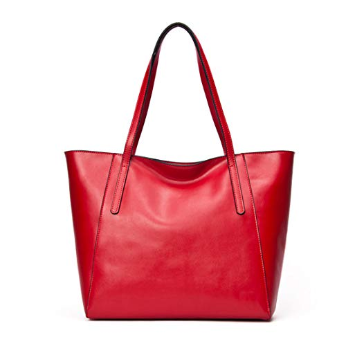 Messenger Cuero Wine Bolsos Red Kervinzhang Tote Bandolera De Red color Genuino Bolso Mujeres Para Bag x1qS8wq
