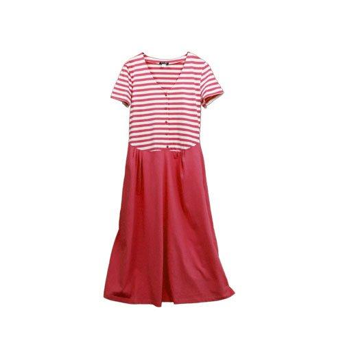 adonia mode Sommerkleid Shirtkleid Lang Geringelt , Gr. 36 - 42