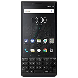 BlackBerry KEY2 64GB (Single-SIM, BBF100-1, QWERTZ Keypad) (GSM Only, No CDMA) Factory Unlocked 4G/LTE Smartphone - International Version (Black)