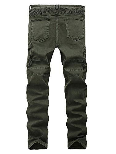 3 Cintura Color Heterosexual Ajustado Media Hombres Bolsillo Cremallera Multi Versaces Jeans Corte Ocio Pantalones H1qOnHBTw