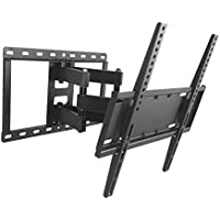 Swivel TV Wall Mount Bracket for most 26-55 Inch LED, LCD, OLED and Plasma Flat Screen TV, with Articulating Dual Arms, up to VESA 400x400mm and 99 LBS with Tilting