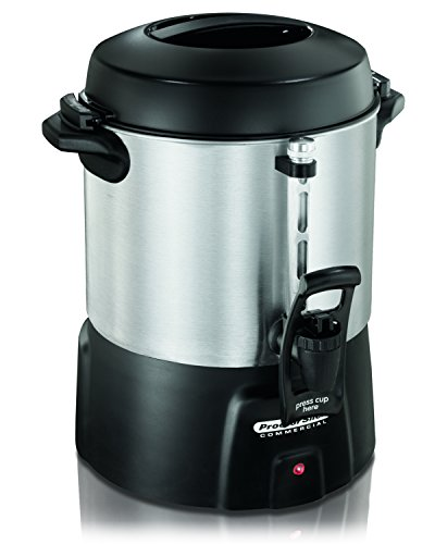 Proctor Silex 45040 40 Cup Brushed Aluminum Coffee Urn from Hamilton Beach Commercial