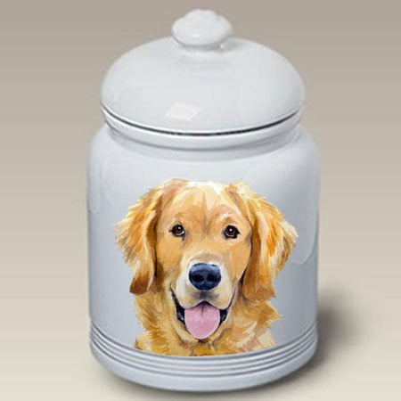 Golden Retriever Dog Cookie Jar by Barbara Van Vliet