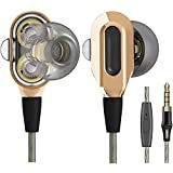LTXHorde in-Ear Headphones with Microphone, Wired Earbuds Stereo Headset Deep Bass Dual Drivers Headphones Compatible with De