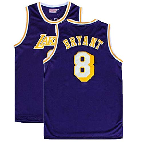 Men's Kobe Jersey Los Angeles 8 Legend Jerseys Retro Basketball Jersey Purple(S-XXL) (L)