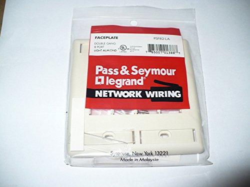pass-seymour-legrand-psf82-la-datacom-faceplate-8-port-light-almond