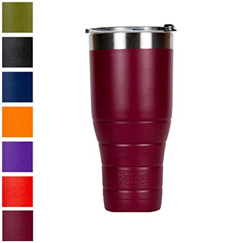 32 Oz Cooler - BISON COOLERS 32 oz Tumbler Double-Wall Vacuum Insulated 18/8 Stainless Steel Drink Container | Powder Coated Cup with Leak Proof Flip Top Lid | Sweat Proof Design for Hot or Cold Beverages