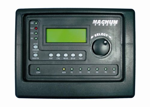 Magnum Energy ME-RTR Router Control, LED Indicators, LCD Display, ON/OFF Pushbuttons, PORT Button, CTRL Button, METER Button, SETUP Button, TECH Button, Rotary Knob/SELECT Button - Alphanumeric Lcd Display