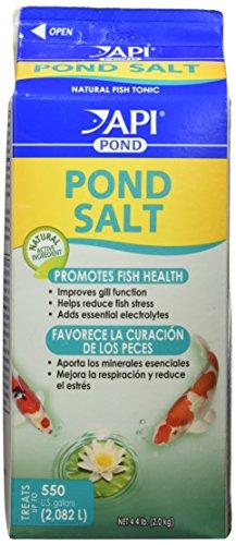 Api pond salt pond water salt import it all for Salt in koi pond