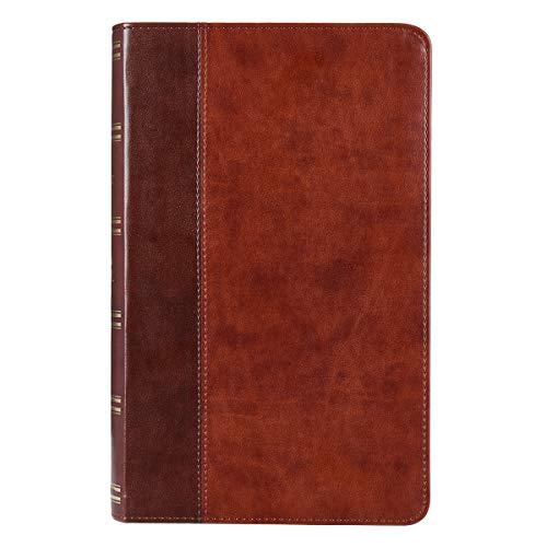 Holy Bible: Two-Tone Brown KJV Bible Giant Print Bible