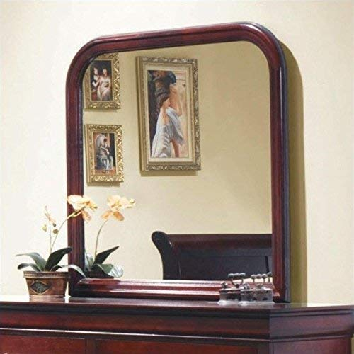 Coaster Home Furnishings Louis Philippe Vertical Mirror, Red Brown