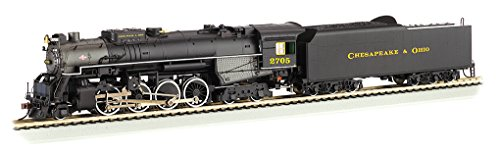 Bachmann Industries Trains 2-8-4 Berkshire Dcc Sound Value Equipped C&O Kanawha #2705 Ho Scale Steam Locomotive ()