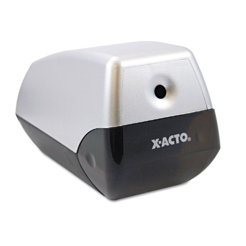 X-ACTO - Model 1900 Desktop Electric Pencil Sharpener - Silver/Black- Pack of (Model 1900 Electric Pencil Sharpener)