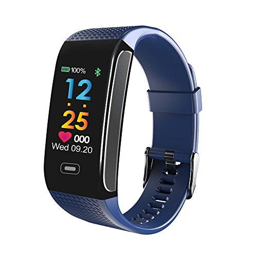 MChoice❤️Sports Activity Sleep Tracker Heart Rate Fitness Pedometer Bracelet Smart Watch (Blue)
