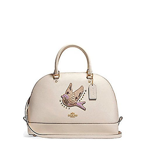 Coach Sierra Satchel in Crossgrain Leather (Chalk Bird) by Coach